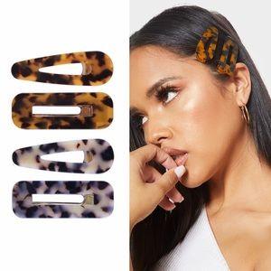 tortoise hair clip set of 4